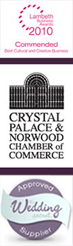 Lambeth Awards, Crystal Palace Chamber of Commerce, Approved wedding supplier